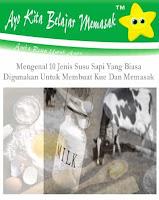 Jenis Susu Sapi Yang Biasa Digunakan Untuk Membuat Kue Dan Memasak