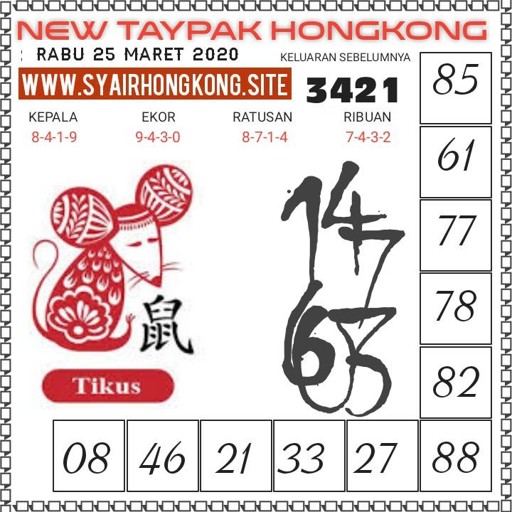 Prediksi HK Malam Ini Rabu 25 Maret 2020 - New Taypak Hongkong