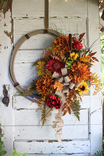 fall lasso wreath