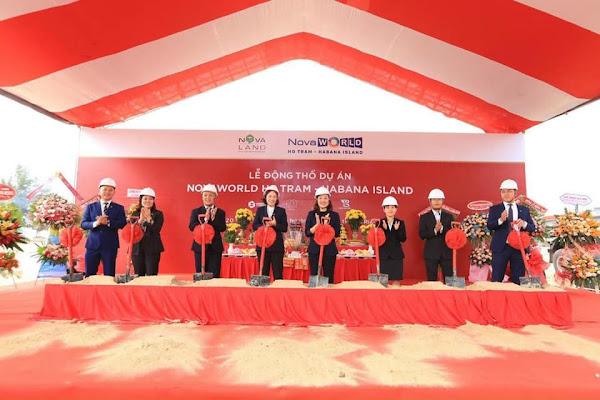 lễ động thổ dự án Habana Island Hồ Tràm chụp ngày 28/13/2020