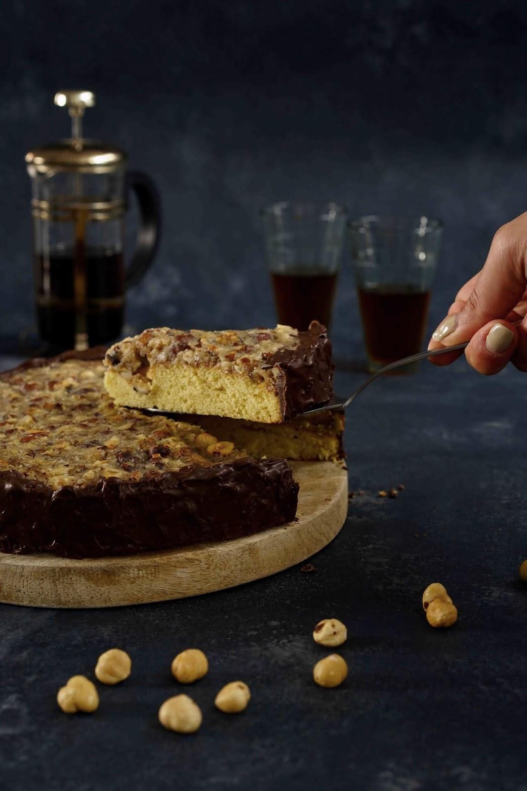 recette danoise , caramel aux noisettes