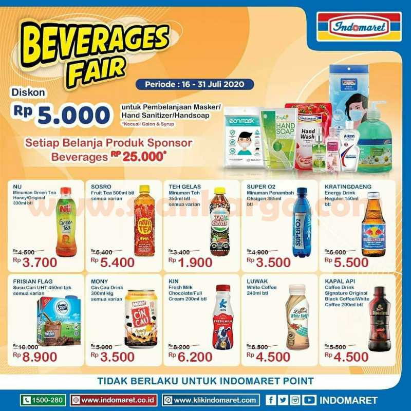 Promo Indomaret Beverages Fair Periode 16 - 31 Juli 2020 2