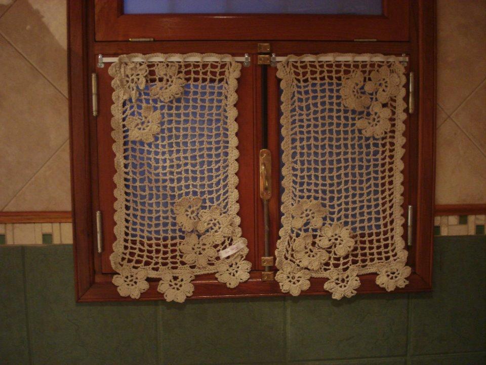 LAS VIOLETAS TEJIDOS  las cortinas al crochet