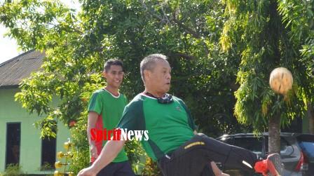Brigjen TNI Djashar Djamil, Olahraga Lari Dan Takrow Bersama Personel Dengan PNS Korem 141/Tp