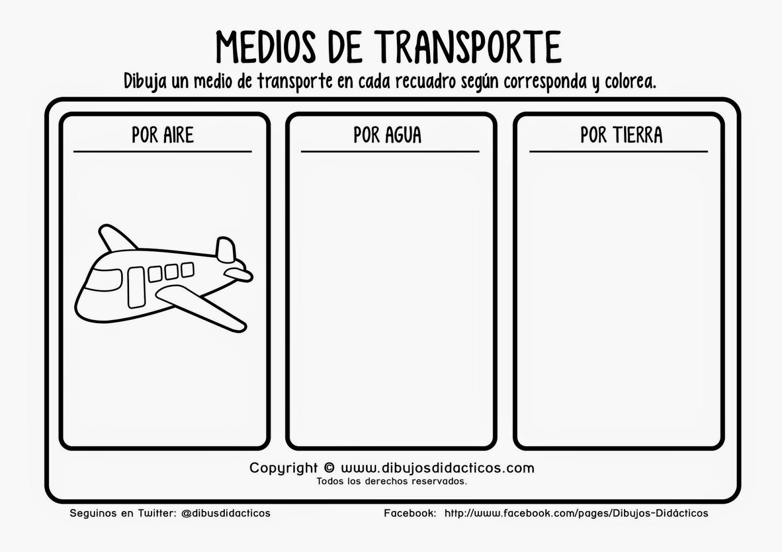 Transportes Por Tierra Para Colorear: SGBlogosfera. María José Argüeso: MEDIOS DE TRANSPORTE