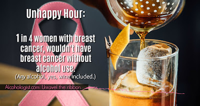 breast cancer, alcohol, awareness month