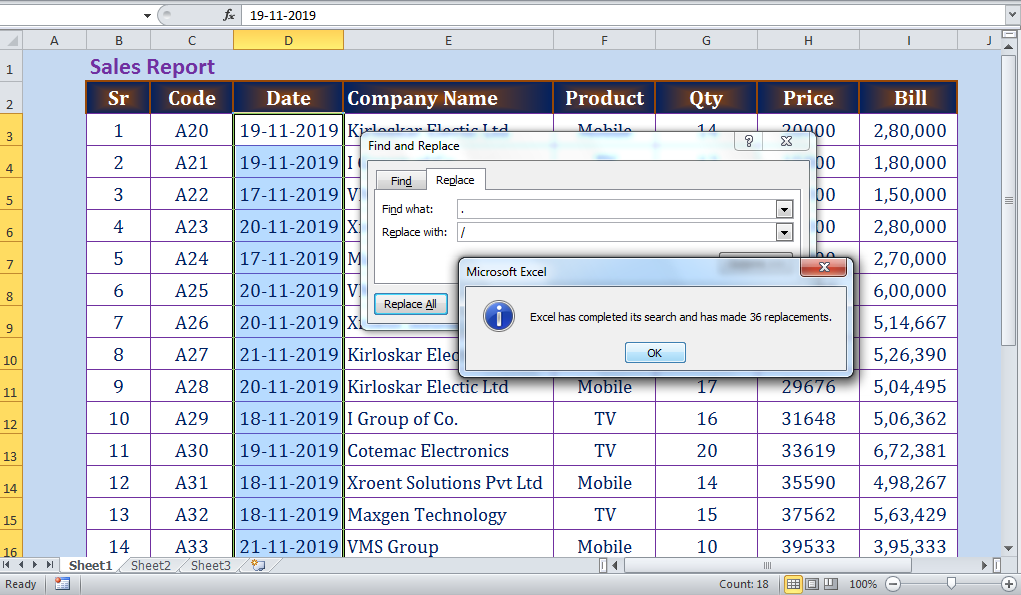 5 important facts that you should know about excel function - Search & Replace