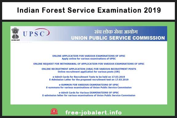 Indian Forest Service Examination 2019: Union Public Service Commission invites applications for 95 vacancies