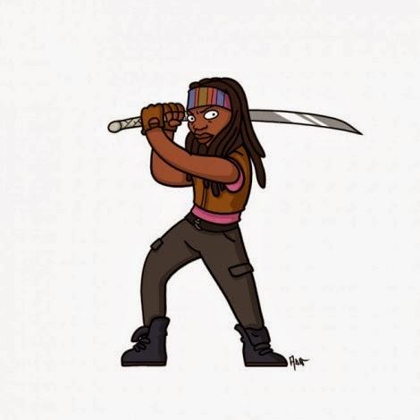 The Walking Dead a Springfield - Michonne