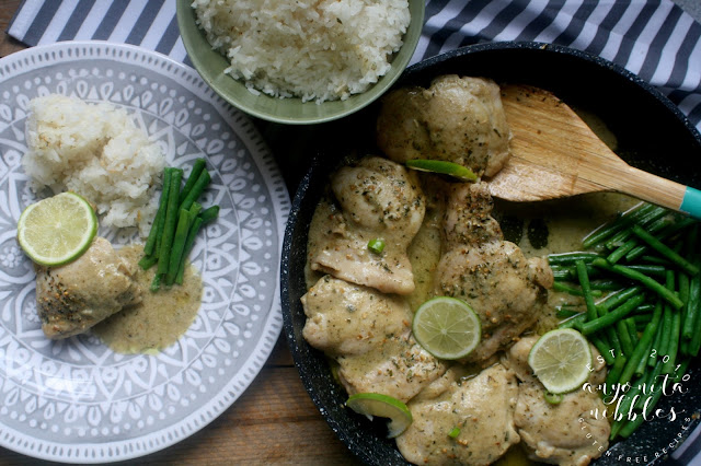 Low FODMAP chicken curry with coconut and lime