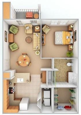 Desain Rumah Ukuran 6x10