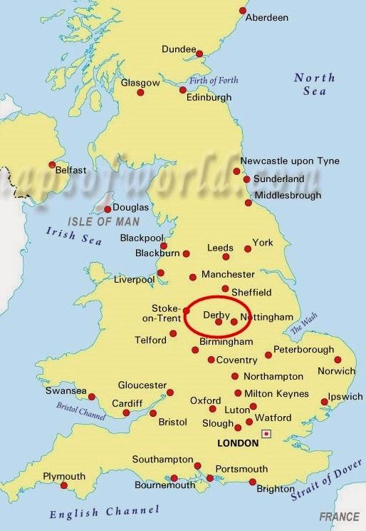 Map Of Uk Derby.Kxin Keryn P Week In Derby