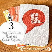 DIY Notebooks made with the Cricut Explore