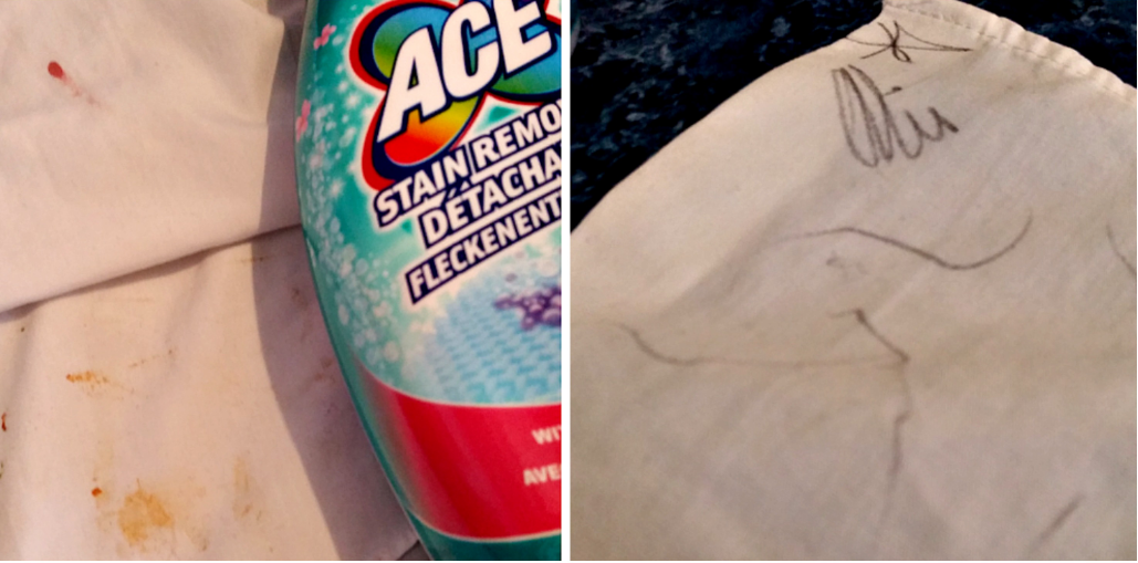 how to remove tomato sauce stains from school bag