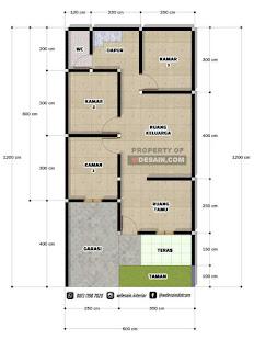 rumah minimalis 6x12 tampak depan 3 kamar tidur - desain