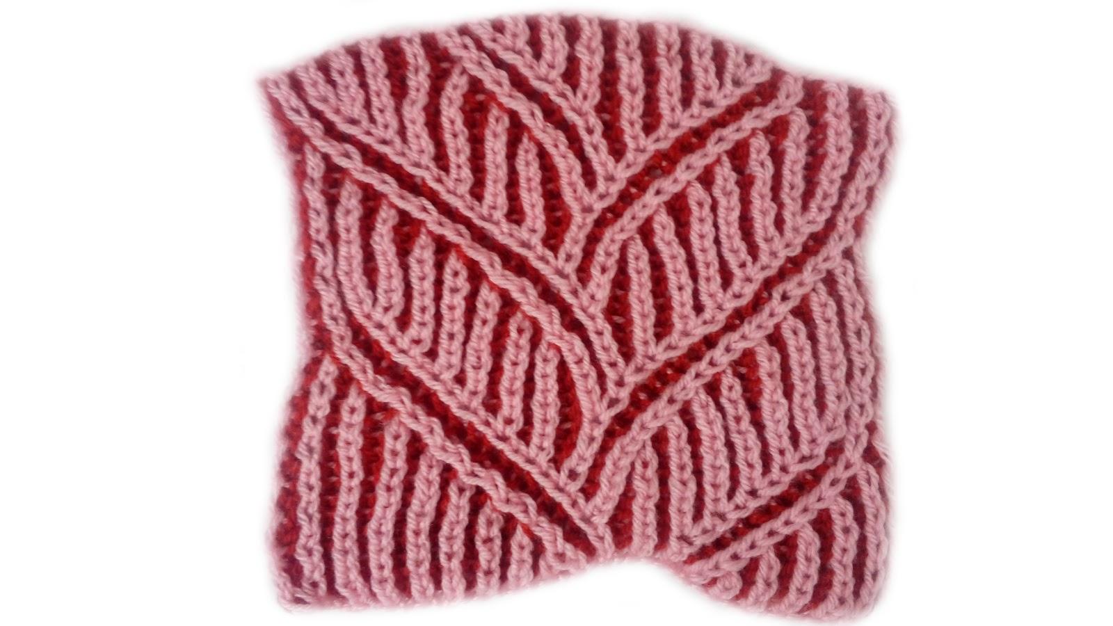 Big Braid Scarf - Brioche Knitting