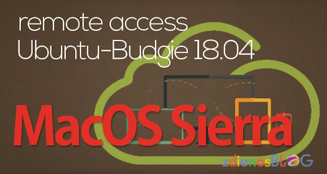 Remote Access Ubuntu Budgie dari MacOS Sierra