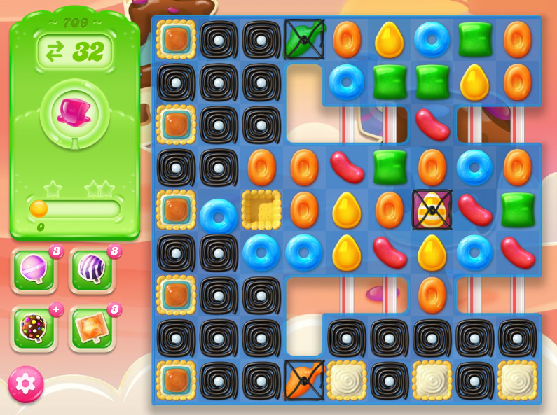 Candy Crush Jelly Saga level 709