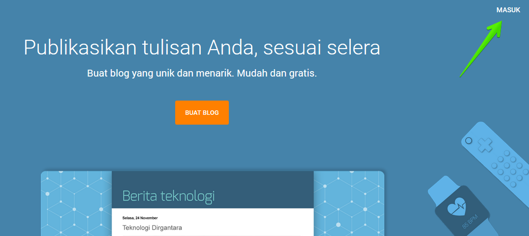 login blogspot atau blogger
