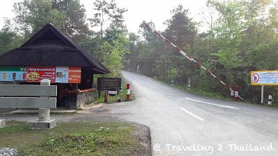 Entrance of Doi Phu Kha National Park in Nan - Thailand