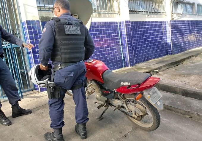 Jacobina: Guarda Municipal recupera no Junco moto roubada em Filadélfia