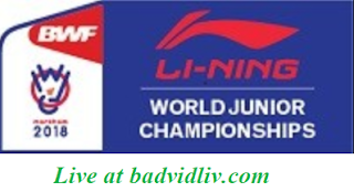 BWF World Junior Mixed Team Championships 2018 live streaming