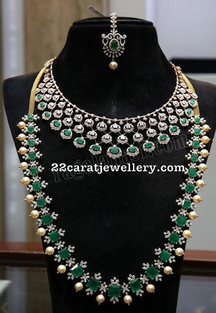 Emerald Diamond Haar by Malabargold