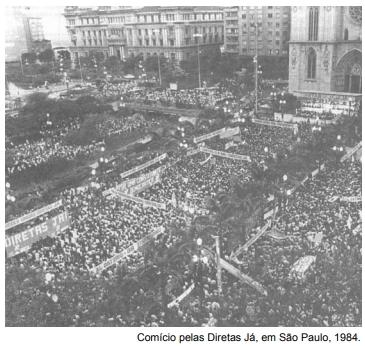 Comício pelas Diretas Já, em São Paulo, 1984.