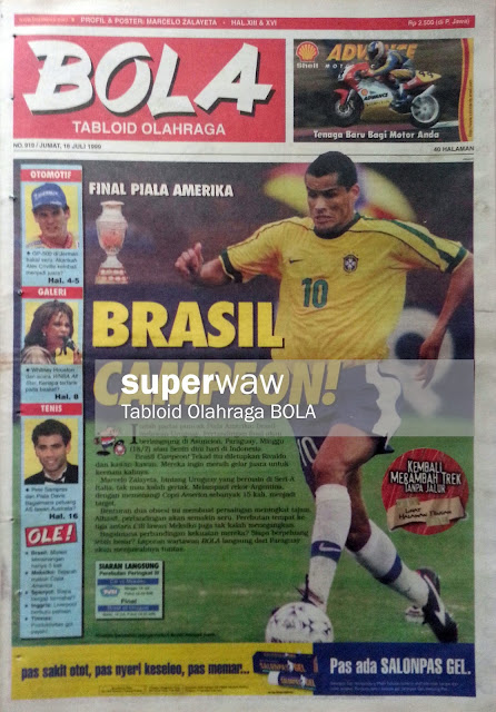Tabloid BOLA: BRASIL CAMPEON!