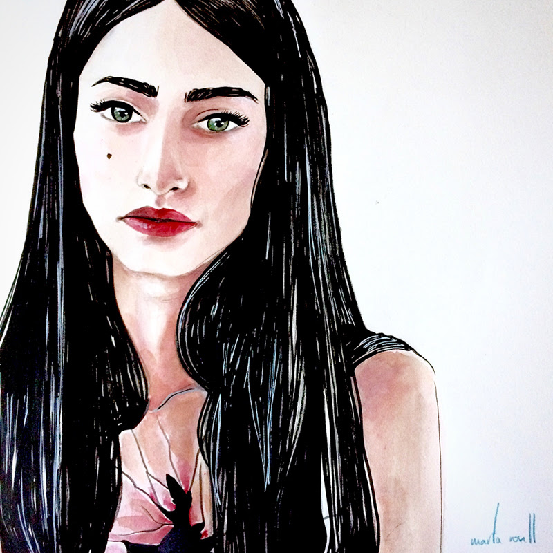 Portrait Paintings by Marta Rosell from Barcelona, Spain.