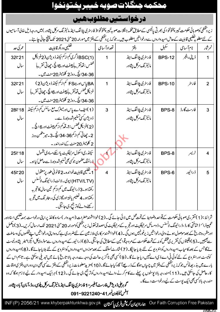 Latest Jobs in Forestry Environment And Wildlife Department 2021