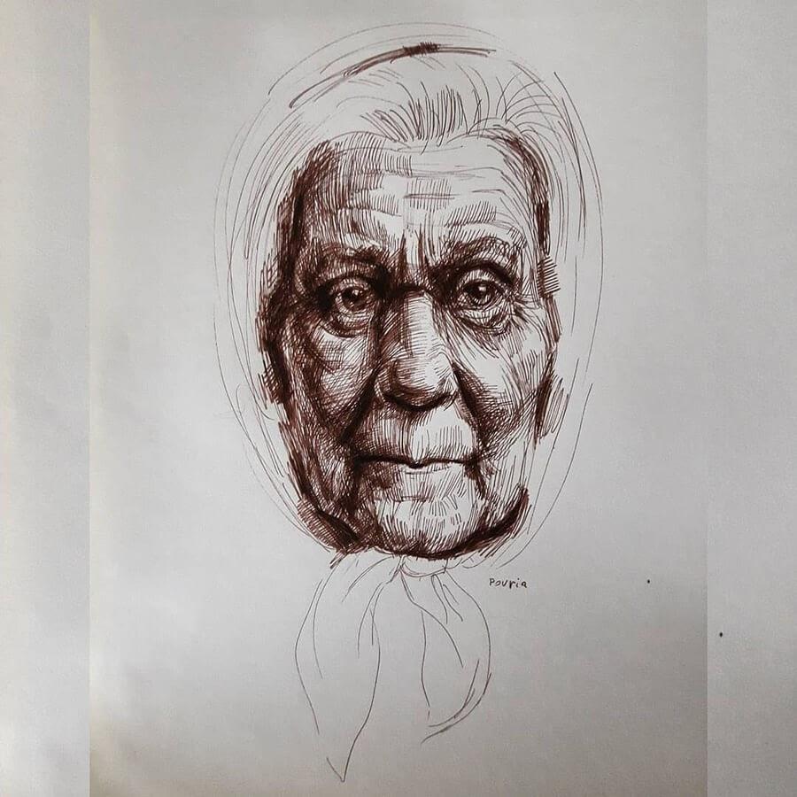 13-Portrait Drawings Pourianahaei-www-designstack-co