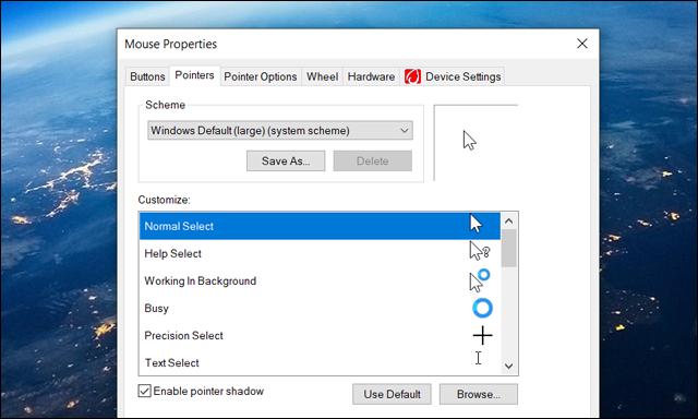 make-mouse-cursor-easier-to-see.html كيفية تغيير لون مؤشر الماوس لرؤية أوضح على ويندوز 10 Capture