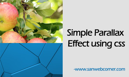 Simple Parallax Effect using css