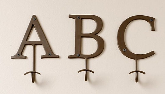 using the alphabet hooks with letters