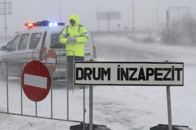 hóvihar, extrém hideg, hófúvás, figyelmeztetés, Románia, extrém időjárás