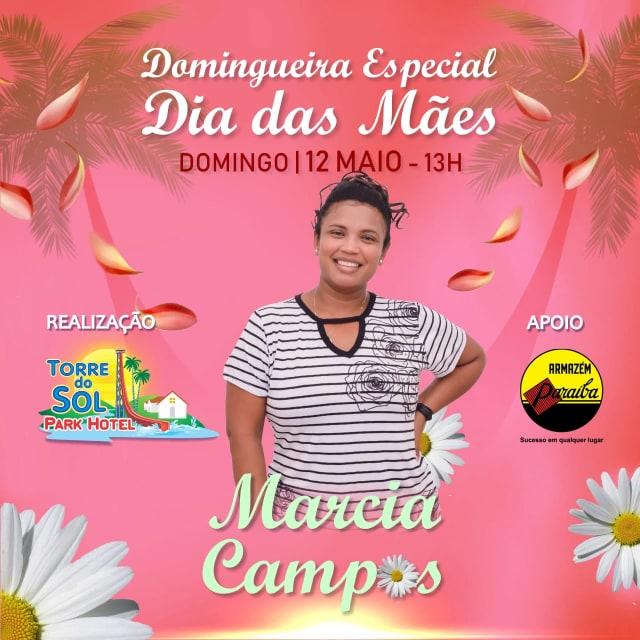 Torre do Sol Park Hotel - Neste Domingo (12),  Tem Especial Dias das Mães Com Márcia Campos