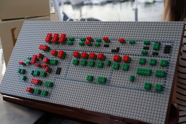 20 Innovative Food Inventions We Had Never Seen Before - Danish Restaurant Keeps Track Of Occupied Tables Using Lego