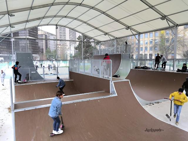 Micro rampe skate park paris