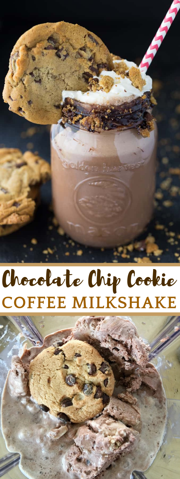 Chocolate Chip Cookie Coffee Milkshake #dessert #drink