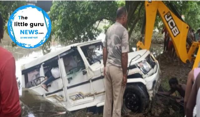 सीतामढ़ी में शराब से भरी गाड़ी का पीछा कर रही थी पुलिस, एक्सीडेंट में तस्कर की हुई मौत