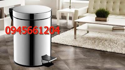 Thùng rác inox đạp chân 12 lít    thùng rác được người sử dụng phổ biến nhất hiện nay
