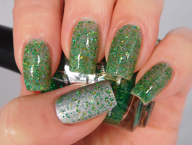 Spellbound Nails Matcha Latte over Barry M Silver Foil