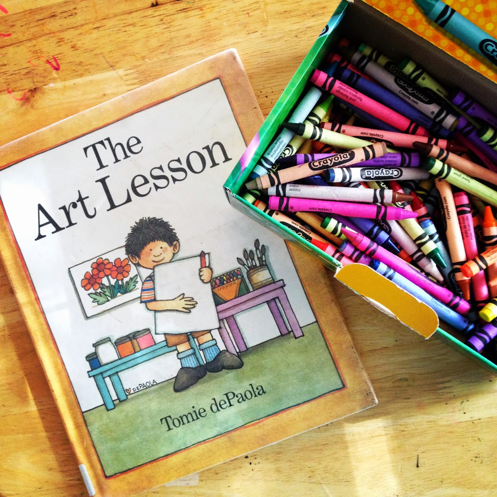 Pen Pals & Picture Books: The Art Lesson and New Crayons