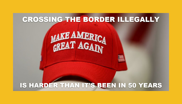 MAGA CROSSING THE BORDER ILLEGALLY