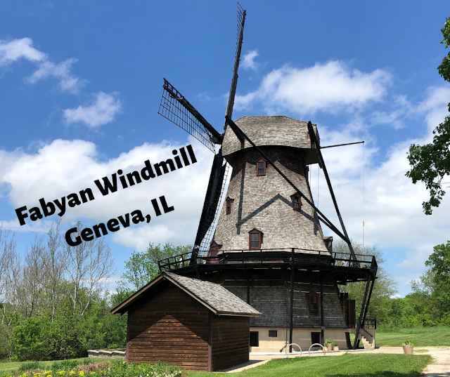 Climbing a Traditional Dutch Style Windmill at Fabyan Windmill in Geneva, Illinois