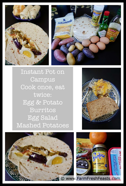 In this recipe we'll cook eggs and potatoes at the same time in the electric pressure cooker then create Egg and Potato Breakfast Burritos, Egg Salad, and Mashed Potatoes. Cook once, eat twice, and get out of the kitchen to enjoy life!