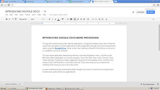 INTRODUCING GOOGLE DOCS WORD PROCESSING
