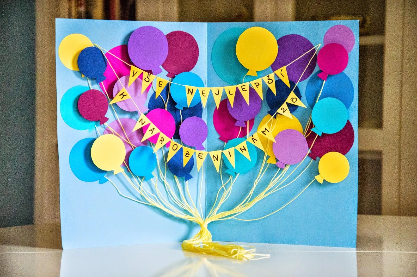 výroba přání k narozeninám O nepodstatných důležitostech: Jak jsem vyráběla narozeninové přání výroba přání k narozeninám