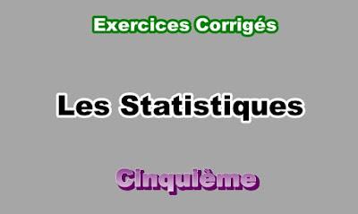 Exercices Corrigés de Statistique 5eme en PDF
